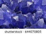 macro photo of blue sapphire... | Shutterstock . vector #644070805