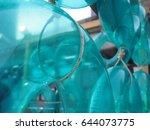 transparent blue turquoise...   Shutterstock . vector #644073775