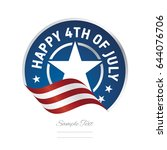 happy 4th of july usa flag... | Shutterstock .eps vector #644076706
