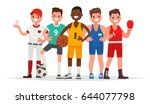 summer sports. set of players... | Shutterstock .eps vector #644077798