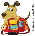 a cute cartoon dog sitting... | Shutterstock .eps vector #64407970