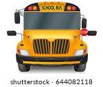 front yellow school bus graphic ...   Shutterstock .eps vector #644082118