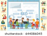 business analysis infographic...   Shutterstock .eps vector #644086045