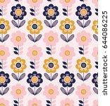 seamless floral pattern | Shutterstock .eps vector #644086225