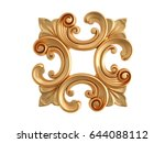 gold ornament on a white... | Shutterstock . vector #644088112