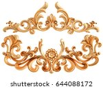 gold ornament on a white... | Shutterstock . vector #644088172