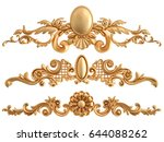 gold ornament on a white... | Shutterstock . vector #644088262