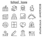 school   education icon set in... | Shutterstock .eps vector #644093038