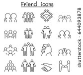 friend   harmony icon set in... | Shutterstock .eps vector #644093878