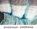 a lot of diapers and diapers... | Shutterstock . vector #644096266