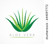 aloe vera with leaves logo ...   Shutterstock .eps vector #644097772