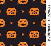 halloween tile vector pattern...   Shutterstock .eps vector #644098786