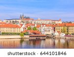 view of colorful old town and... | Shutterstock . vector #644101846
