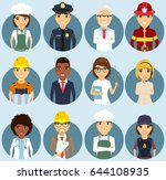 set of icons depicting... | Shutterstock .eps vector #644108935