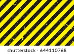 line yellow and black color... | Shutterstock .eps vector #644110768