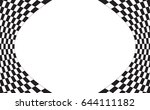 checkered flag. racing flag... | Shutterstock .eps vector #644111182