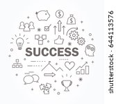 success thin line icon set.... | Shutterstock .eps vector #644113576