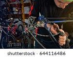 master bike repairs in the...   Shutterstock . vector #644116486