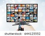 widescreen ultra high... | Shutterstock . vector #644125552