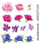 set of pink  red  purple  blue...   Shutterstock .eps vector #644127115