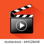 clapper board   Shutterstock .eps vector #644128648