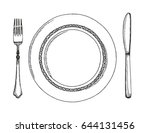 knife and fork. cutlery vector...   Shutterstock .eps vector #644131456
