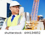 engineer builder at... | Shutterstock . vector #644134852