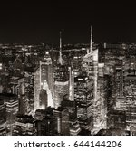 new york city midtown skyline... | Shutterstock . vector #644144206