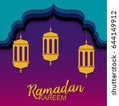 ramadan kareem greeting card | Shutterstock .eps vector #644149912