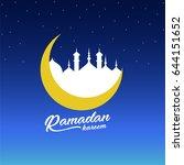 ramadan kareem  | Shutterstock .eps vector #644151652