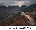 mountain valley along the... | Shutterstock . vector #644153536