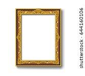vintage gold picture frame | Shutterstock .eps vector #644160106