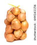 onions in a grid on a white... | Shutterstock . vector #644161156