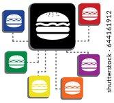 burger single icon | Shutterstock .eps vector #644161912