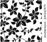 vector seamless pattern flowers ... | Shutterstock .eps vector #644162575