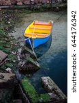colorful row boat | Shutterstock . vector #644176342