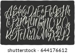 hand drawn calligraphic font...