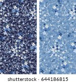 flowery bright pattern in small ... | Shutterstock .eps vector #644186815