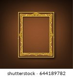 vintage gold picture frame on... | Shutterstock .eps vector #644189782