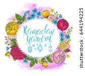 template vector greeting card...   Shutterstock .eps vector #644194225