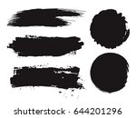 large grunge elements set.... | Shutterstock .eps vector #644201296