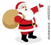 santa claus presenting... | Shutterstock .eps vector #64420351