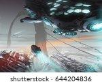 digital illustration of fantasy ...   Shutterstock . vector #644204836