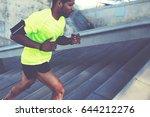 cropped shot male dark skinned... | Shutterstock . vector #644212276