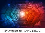 abstract technology concept...   Shutterstock .eps vector #644215672