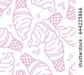 seamless pattern with ice cream | Shutterstock .eps vector #644225866