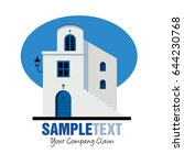 mediterranean style house... | Shutterstock .eps vector #644230768