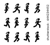 woman people various running... | Shutterstock .eps vector #644234452