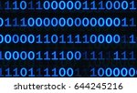abstract binary code on blue... | Shutterstock . vector #644245216