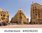 famous talaat harb square in... | Shutterstock . vector #644246242